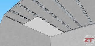 pose rail placo plafond technique brico le faux plafond autoportant en détails