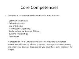 Core Competencies Examples For Resume With As Well Competency