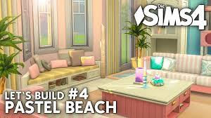 die sims 4 haus bauen pastel 4 strandhaus wohnzimmer