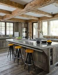 les plus belles cuisines modernes les plus belles cuisines rustiques en images tabouret jaune