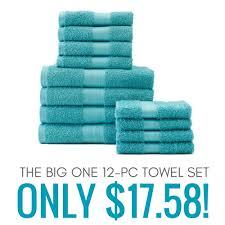 Kohls Bath Towel Sets by The Big One 12 Pc Bath Towel Value Pack Only 17 58 Ezy Blogs