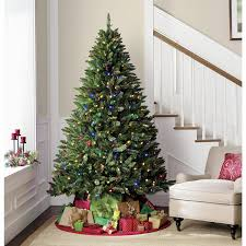 Christmas Tree 7ft Pre Lit by Holiday Showtime 7 U0027 Pre Lit Diamond Peak Tree Shop Your Way