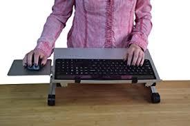amazon com uncaged ergonomics workez keyboard tray mouse pad