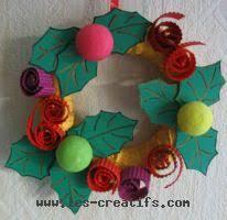 décorations et couronnes de noël à faire en famille