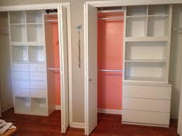 Master closet IKEA Kallax shelving with one modification IKEA