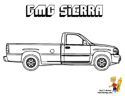 GMC Sierra Pickup Coloring At YesColoring
