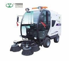 100 Leaf Vacuum Truck Ride On Sweeper Road Sweeping Machine For Sale Dust