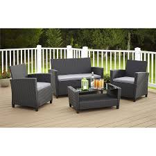 Patio Cushion Sets Walmart by Cosco Outdoor Malmo 4 Piece Resin Wicker Patio Conversation Set