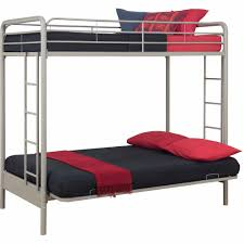 Futon Beds Walmart by Dhp Twin Over Futon Metal Bunk Bed Multiple Colors Walmart Com