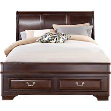 Rooms To Go Queen Bedroom Sets by Mill Valley Ii Cherry 5 Pc Queen Sleigh Bedroom With Storage