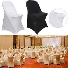 Details About Fitted Folding Spandex CHAIR COVERS For Wedding Reception  Party Supplies Banquet