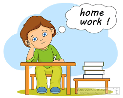 School Clipart student thinking homework 14 Classroom Clipart