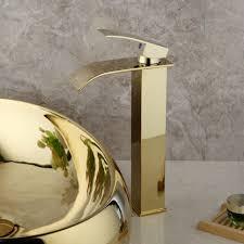 golden waterfall badezimmer waschbecken waschbecken waschtisch mixer wasserhahn