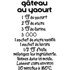 recette de cuisine gateau au yaourt sticker recette de gâteau au yaourt