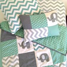 Harley Davidson Crib Bedding by Image Of Preorder Pachy Elephant Baby Crib Quilt In Mint Green