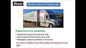 Western Express Trucking Jobs - YouTube Truck Driving Jobslocation Roehljobs With Flatbed Driver Job Western Express Flatbed Idevalistco Jobs Cdl Now 7 Myths About Hauling Fleet Clean Flatbed Truck Driver Jobs Tshirt Guys Ladies Youth Tee Hoodie Sweat Awesome Trucking Jobs For Experienced Truck Drivers Youtube Trucking Current Yakima Wa Floyd Blinsky Companies At Steelpro Owner Operator Dryvan Or Status Transportation A Career As Unique You Western Express In South Carolina