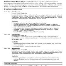 Sample Resume For Office Assistant With Experience New Good Administrative Fresh Medical