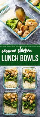 Make These Meal Prep Honey Sesame Chicken Lunch Bowls And Youll Have FOUR W