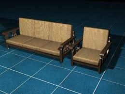 modern wooden sofa furniture max 3ds max software household items