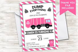 Girl Garbage Truck Invite Birthday Invitation Pink Stripes Kids Dump ... 9 Of The Best Kids Birthday Party Ideas Gourmet Invitations Cstruction Invite Dumptruck Invitation 5x7 Free Printable Cstruction Invitations Idevalistco Tandem Dump Trucks For Sale Also Truck Safety Procedures And Gmc 25 Digger Fill In 8th Card Luxury Boy Tonka Classic Toy Amazoncouk Toys Games Transportation Train Invite Car Play Everyday Mom
