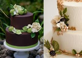Autumn Wedding Cake With Apple Blossoms And Roses By Erica OBrien Left Blackberry