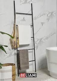 handtuchleiter schwarz badezimmer bauen handtuchhalter