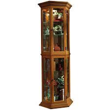 Pulaski Oak Corner Curio Cabinet by Amazon Com Pulaski Curio 25 By 11 By 70 Inch Medium Brown