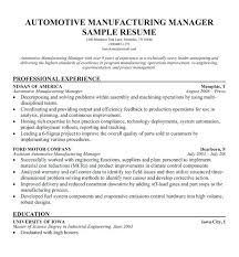 Resume Objective For Manufacturing Production Manager Sample Resumes Objectives Entry Level