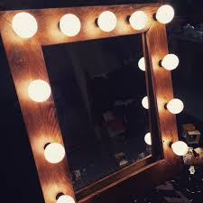 Cute Easy Simple DIY Wood Rustic Vanity Mirror With Hollywood Style Lights 4 Any Makeup Room This Cozy Farmhouse Is The Perfect Way T