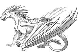 Click To See Printable Version Of Icewing Dragon From Wings Fire Coloring Page