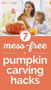 Pumpkin Carving Tools Walmart by 7 Mess Free Pumpkin Carving Hacks Thegoodstuff