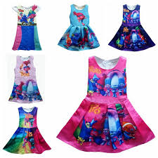 Baby Girls Clothes Fashion Sleeveless Cartoon Dress Children Cotton Splicing Princess Christmas Kids Clothing Girl