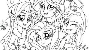 Equestria Girls Coloring Pages My Little Pony Sunset Shimmer Favorite Teacher