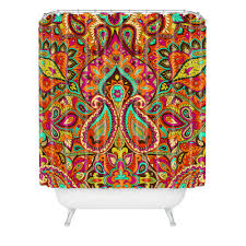 Paisley Orange Shower Curtain Aimee St Hill