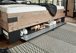 details zu schlafzimmer komplett set 4 tlg stockholm bett kleiderschrank grau braun