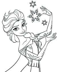 Elsa Frozen Coloring Pages Online Fever Free Printable Interesting Pictures Print Queen Large Size