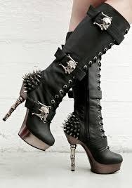 demonia la muerta spiked boots shoes pinterest nu goth