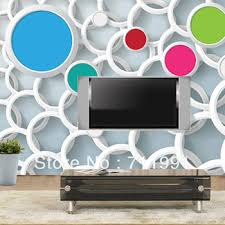Free Shipping High Quality Stereo 3d Wallpaper Personalized Tv Background Wall Painting For Living
