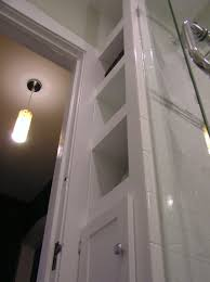 Small Narrow Bathroom Ideas by Narrow Built In Shelves Are Only 12