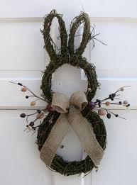 so cute primitive country easter bunny door wreath rustic easter