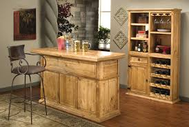 light wood bar with wine storage rustic home bar furniture set 6680