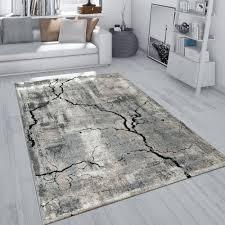 teppich used look beton optik 3 d risse grau