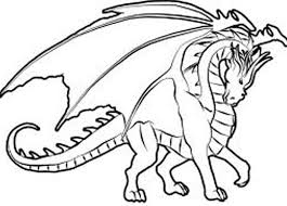 Hard Coloring Pages Of Dragons