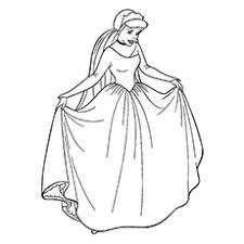 Cinderella Princess Fairy Picture To Color
