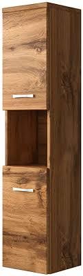 badplaats bv badezimmer schrank montreal 131 cm braun regel schrank hochschrank schrank möbel