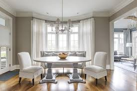 Oval Pedestal Dining Table In Bay Window