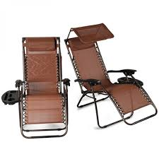 BELLEZE 2-Pack Zero Gravity Chair W/ Canopy Top Reclining Lounge Chairs  Outdoor Patio W/ Cup Holder, Brown Phi Villa Outdoor Patio Metal Adjustable Relaxing Recliner Lounge Chair With Cushion Best Value Wicker Recliners The Choice Products Foldable Zero Gravity Rocking Wheadrest Pillow Black Wooden Recling Beach Pool Sun Lounger Buy Loungerwooden Chairwooden Product On Details About 2pc Folding Chairs Yard Khaki Goplus Wutility Tray Beige Headrest Freeport Park Southwold Chaise Yardeen 2 Pack Poolside