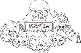 Opulent Design Printable Angry Birds Star Wars Coloring Pages Good Book