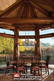 Handcrafted Log Home Dining Room