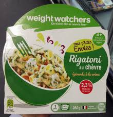 plat cuisiné weight watchers mes p tites envies rigatoni au chèvre épinards à weight watchers